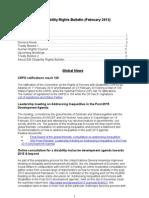 IDA Disability Rights Bulletin February 2013
