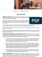 Apr Update New Laws 2009 Federal Stimulus Act –