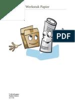 werkstuk papier