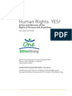 Human Rights YES - Action and Advocacy on the Rights of Persons with Disabilities