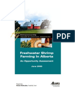 Freshwater Shrimp Farming in Alberta August 15 05