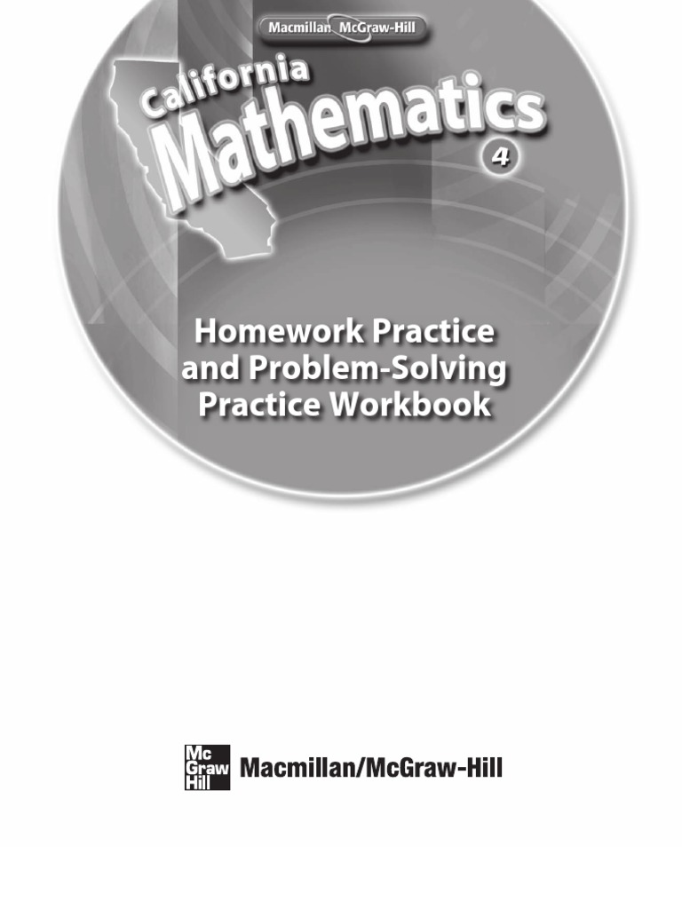 Math WorkbookMath Grade 4 Homework Practice Book – Mcgraw Hill Math Worksheets