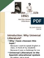 Walt Whitman (1819-1892)