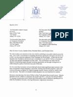Letter from Democratic Senators asking for more school aid.