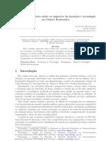 Ozon, Leão, Busato - Uma Revisão Teórica Sobre Os Impactos Da Inovação e Tecnologia Na Ciência Econômica