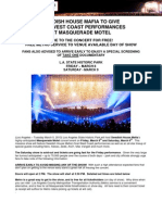 Go Metro to Swedish House Mafia's Masquerade Motel L.A. concert