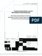 MHI Root Cause Analysis of San Onofre Replacement Steam Generators
