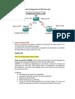 Pasos Configuración de VPN sitio a sitio_GNS3