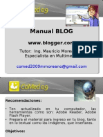 Manual Blogger COMED2009