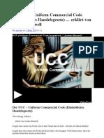 Der UCC – Uniform Commercial Code (Einheitliches Handelsgesetz) … erklärt von Jordan Maxwell