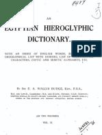 An Egyptian Hieroglyphic Dictionary-Vol 2