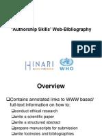 Authorship+Skills+Web Bibliography+07+2009