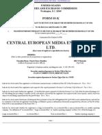 CENTRAL EUROPEAN MEDIA ENTERPRISES LTD 10-K (Annual Reports) 2009-02-25