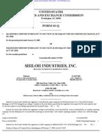 SHILOH INDUSTRIES INC 10-Q (Quarterly Reports) 2009-02-25
