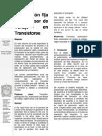 Polarización fija y de Divisor de Voltaje en Transistores