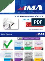 SONDEO DE OPINION PUBLICA – REVOCATORIA SUSANA VILLARAN