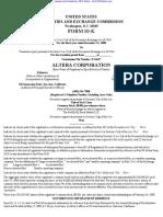 ALTERA CORP 10-K (Annual Reports) 2009-02-25