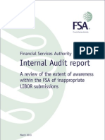 FSA LIBOR Internal Audit Report