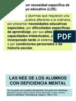Las Nee de Los Alumnos Con Deficiencia Mental Para Reprografc3ada2
