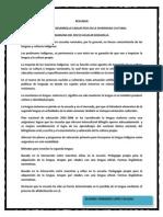 Resumen Eduacacion y Desarrollo Linguistico en La Diversidad Cultural.