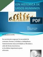 EVOLUCION HISTÓRICA DE LOS RECURSOS HUMANOS