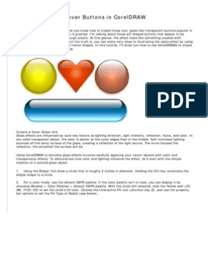 Glassy Buttons In Coreldraw Shape Color You can adjust your cookie preferences at the bottom of this page. scribd