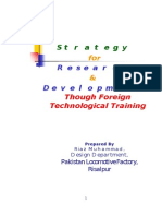 Strategy for R&D Through Foreign Technological Training