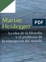 Heidegger Martin - La Idea de La Filosofia