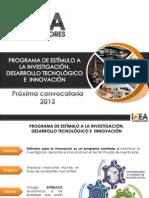 IDEA Estímulos a la Innovación 2013