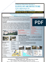 Masters in Architectural Conservation at SCOA,Pune