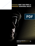 Army Task Force on Behavioral Health Corrective Action Plan