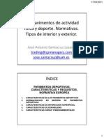 7.1. Pavimentos de actividad física y deporte. Normativas y tipos