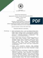 Perpu No. 01 Tahun 2009 Ttg Perobahan UU Pemilu Legislatif