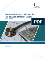 education debt and cost of attendance 2012