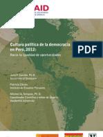 Cultura política de la democraci en Perú  2012