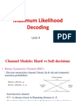 Maximum likelihood decoding techniques notes
