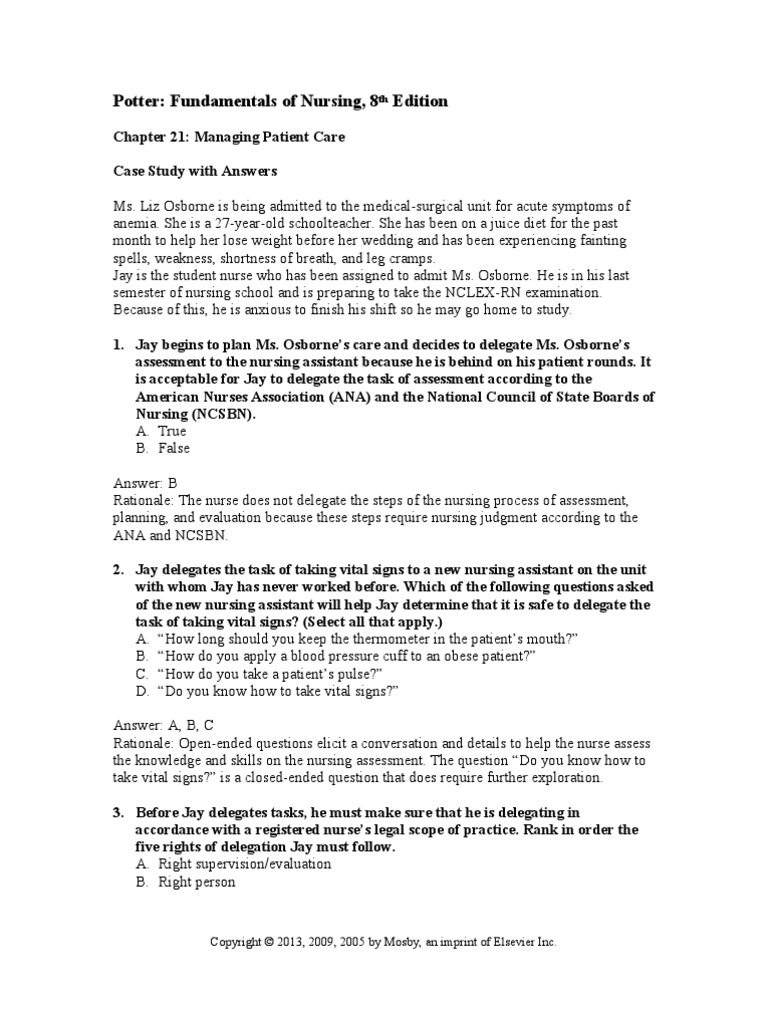 case studies nursing assessment Irubric: nurs410 case study rubric preview  student's responses demonstrate understanding of some of the components of nursing assessment for selected patient.