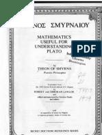Theon of Smyrna - Mathematics Useful for Understanding Plato