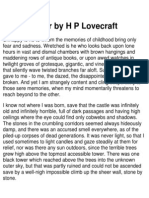 H. P. Lovecraft -Outsider