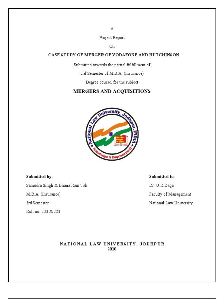case study of vodafone hutch merger