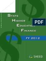 State Higher Education Finance 2012