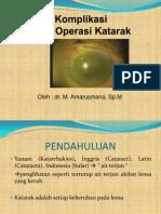 Komplikasi Post Operasi Katarak