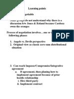 Ugli Orange Negotiation-Learning Points