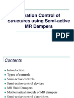 Vibration control of structures using semi-active MR Dampers-lecture.ppt