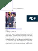 Biography Report Yang Amat Berbahagia Tun Dr Mahathir Mohamad