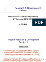 Product RD Session 1 - Course Outline - Jan 2013