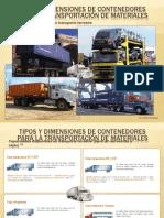Tipos y dimensiones de contenedores TERRESTRES y FERROVIARIOS para la transportación de materiales