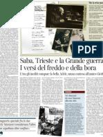 Umberto Saba, una mostra a Milano sull'«archivio ritrovato» - Il Corriere della Sera 09.03.2013