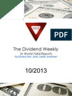 Dividend Weekly 10_2013