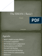 RMAN Basics Oracle - applicable for all oracle versions